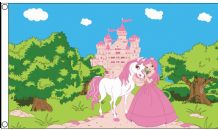 Pink Princess, A Pony & A Palace 5'x3' Flag